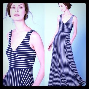 NWOT Boden Striped Full Skirt Maxi Dress